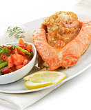 Stuffed Salmon Plate