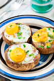 Stuffed mushrooms with eggs