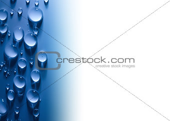 Abstract  Water Drops Background with Beautiful Light and white