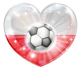 Polish soccer heart flag