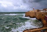 Acre sea wall, Israel