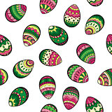 Seamless easter pattern with colorful eggs