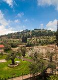 View of the Garden in Jerusalem, Israel