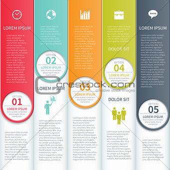 Modern minimalistic infographic template.