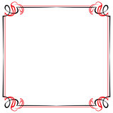 Vector vintage black and red frame