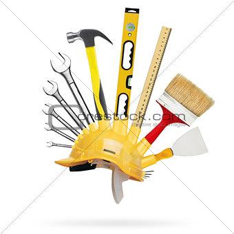 Tools and construction helmet