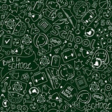 Seamless Pattern - Blackboard With School Drawinds