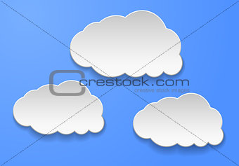 Abstract clouds on light blue background