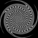 Black and White Hypnotic Background. Vector Illustration.