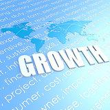 Growth world map