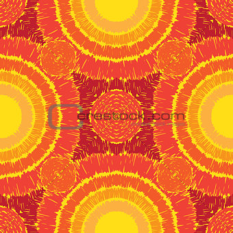 Abstract sunny seamless pattern