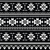 Tribal aztec vector seamless pattern, print