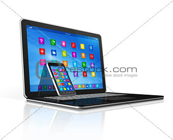 Smartphone and Laptop
