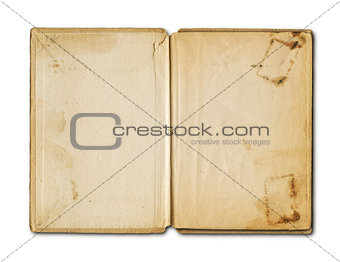 old grunge open notebook