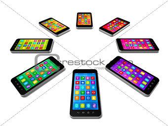 Smartphones Colors Set