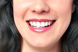 Closeup smiling woman