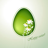 Floral green easter egg.
