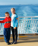 Children on the deck of ship