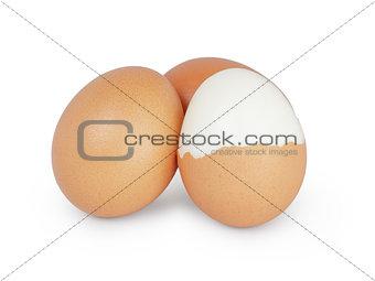 boiled hen eggs