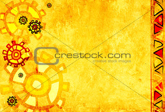 Background with ethnicity ornaments