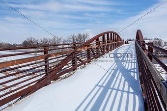 foot and bike trail bridge