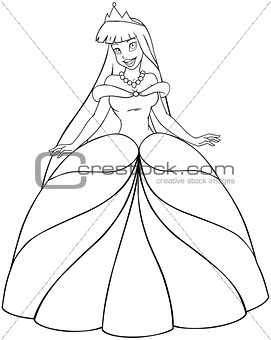 Asian Princess Coloring Page
