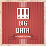 Big Data Concept on Red in Flat Design.