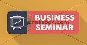 Business Seminar Concept in Flat Design.