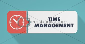 Time Management Concept in Flat Design.