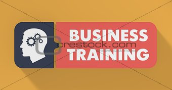 Business Training Concept in Flat Design.