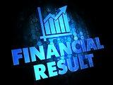 Financial Result Concept on Digital Background.
