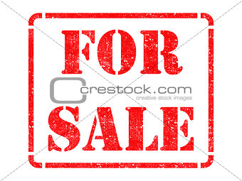 For Sale -  Red Rubber Stamp.