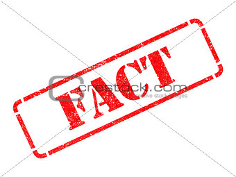 Fact -  Red Rubber Stamp.