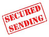 Secured Sending -  Red Rubber Stamp.