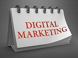 Digital Marketing Concept on Desktop Calendar.