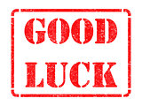Good Luck -  Red Rubber Stamp.