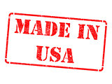 Made in USA - Red Rubber Stamp.