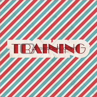 Training Concept on Striped Background.