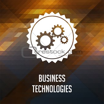 Business Technologies on Triangle Background.