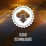 Cloud Technologies Concept on Triangle Background.