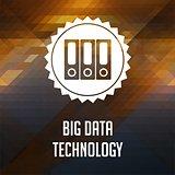Big Data Technology on Triangle Background.