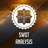 SWOT Analysis Concept on Triangle Background.