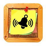 Ringing Bell - Yellow Sticker on Message Board.