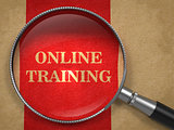 Online Training - Magnifying Glass Concept.