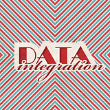 Data Integration Concept on Striped Background.