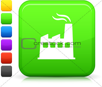 greener power  icon on square internet button