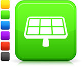 solar power icon on square internet button