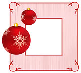 Holiday background with Christmas Ornament and snowflakes