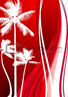 Abstract Palm Tree Background