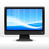 computer monitor with wave pattern internet background
